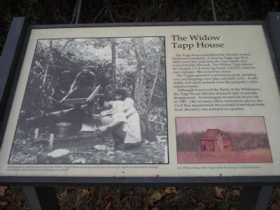 The Widow Tapp House Marker image. Click for full size.