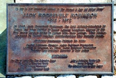 Jackie Robinson Historical Marker, Jersey City image. Click for full size.