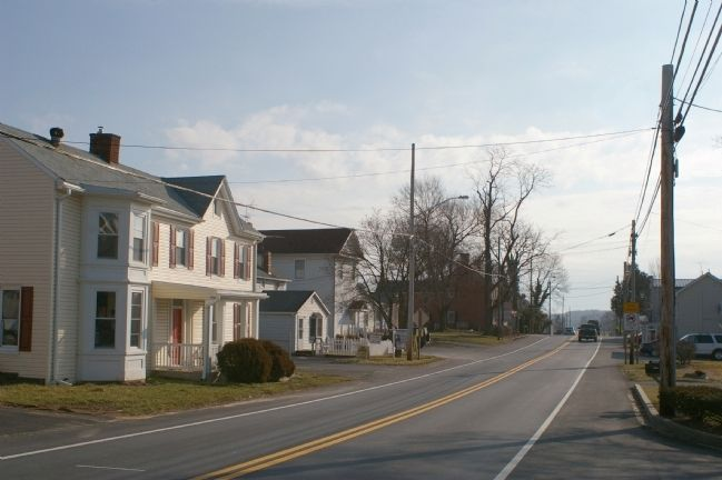 Looking east on Main Street in Lisbon, Maryland image. Click for full size.