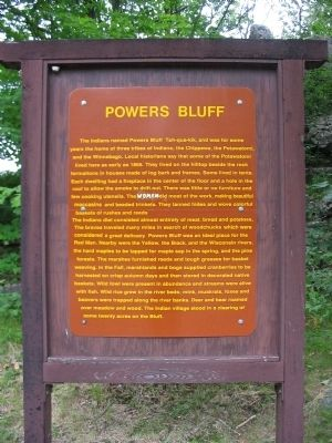 Powers Bluff Marker image. Click for full size.