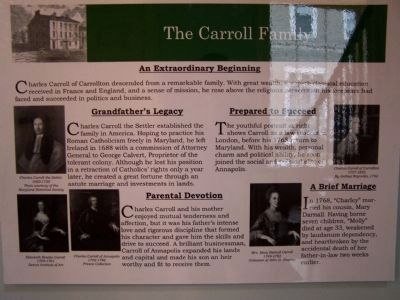 The Carroll Family - Interior Marker image. Click for full size.