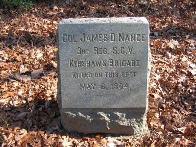 Col. James D. Nance Monument image. Click for full size.