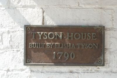Tyson House Marker image. Click for full size.