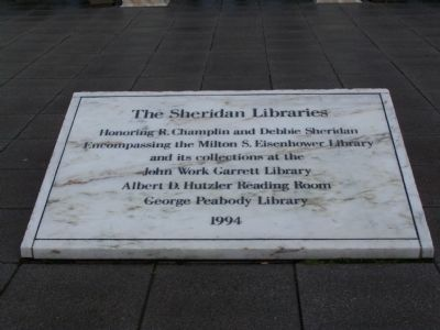 The Sheridan Libraries Marker image. Click for full size.