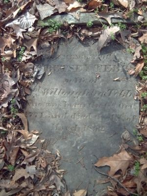 Inscription on Betsey Tebbs' Gravestone image. Click for full size.