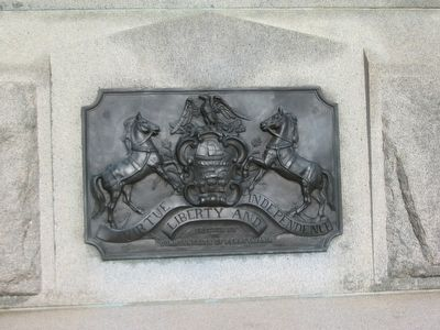 State Seal on Front of Monument image. Click for full size.