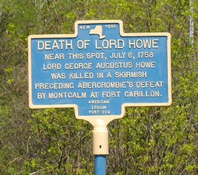 Death of Lord Howe Marker image. Click for full size.