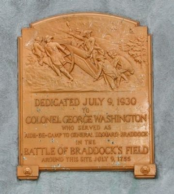 Colonel George Washington Monument Marker image. Click for full size.
