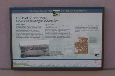 The Port of Baltimore Marker image. Click for full size.