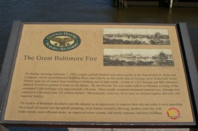 The Great Baltimore Fire Marker image. Click for full size.