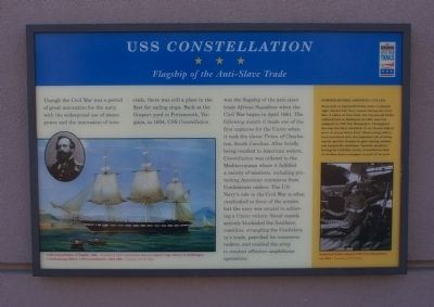 USS Constellation Marker image. Click for full size.