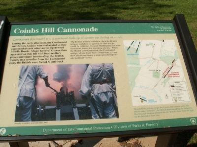Combs Hill Cannonade Marker image. Click for full size.