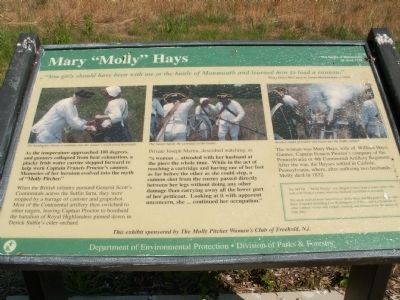 "Mary "" Molly"" Hays Marker image. Click for full size."