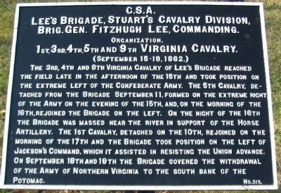 Lee's Cavalry Brigade Tablet image. Click for full size.