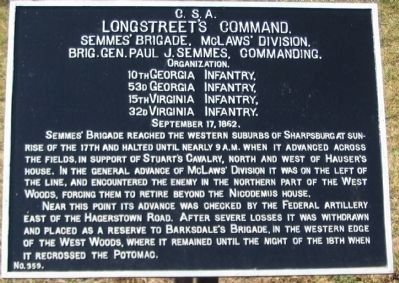 Semmes Brigade Tablet image. Click for full size.
