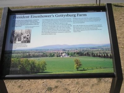 President Eisenhower's Gettysburg Farm Marker image. Click for full size.