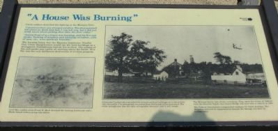 """A House Was Burning"" Marker image. Click for full size."