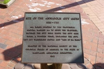 Site of the Annapolis City Gates Marker image. Click for full size.