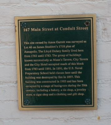167 Main Street at Conduit Street Marker image. Click for full size.