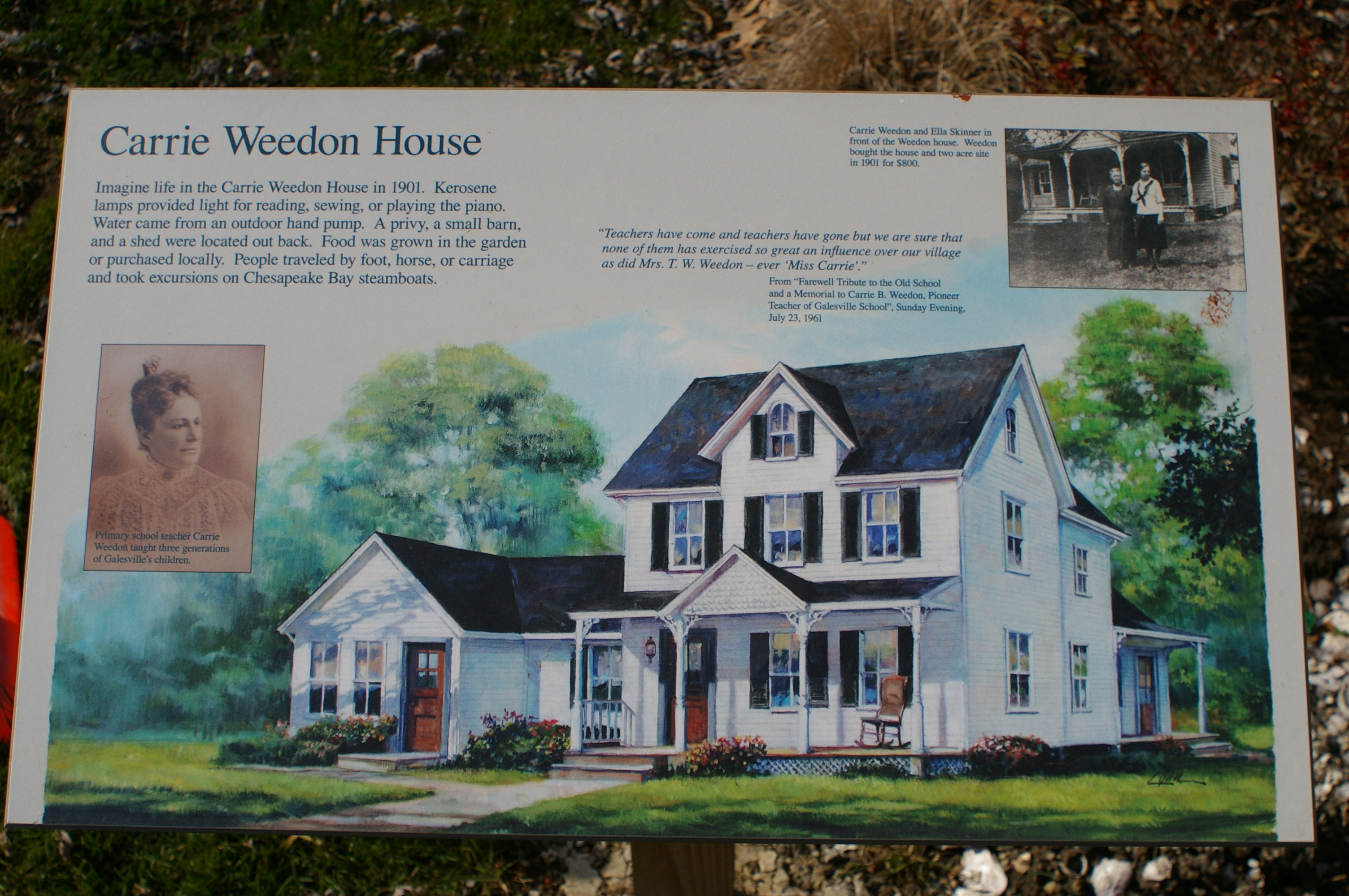 Carrie Weedon House Marker