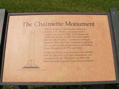 Chalmette Monument Marker </b>(Seconday Marker) image. Click for full size.