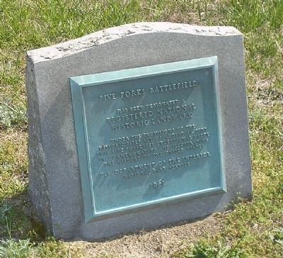 Five Forks Battlefield Marker image. Click for full size.