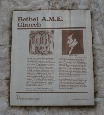 Bethel A.M.E. Church Marker image. Click for full size.