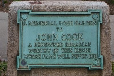 A Memorial Rose Garden Marker image. Click for full size.