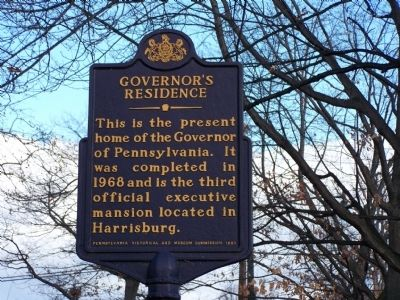 Govenor's Residence Marker image. Click for full size.