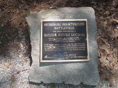 Petersburg Breakthrough Battlefield National Historic Landmark Marker image. Click for full size.