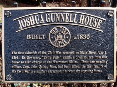 Joshua Gunnell House Marker image. Click for full size.