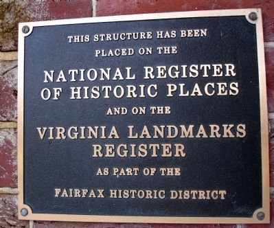 Plaque located at front entrance image. Click for full size.