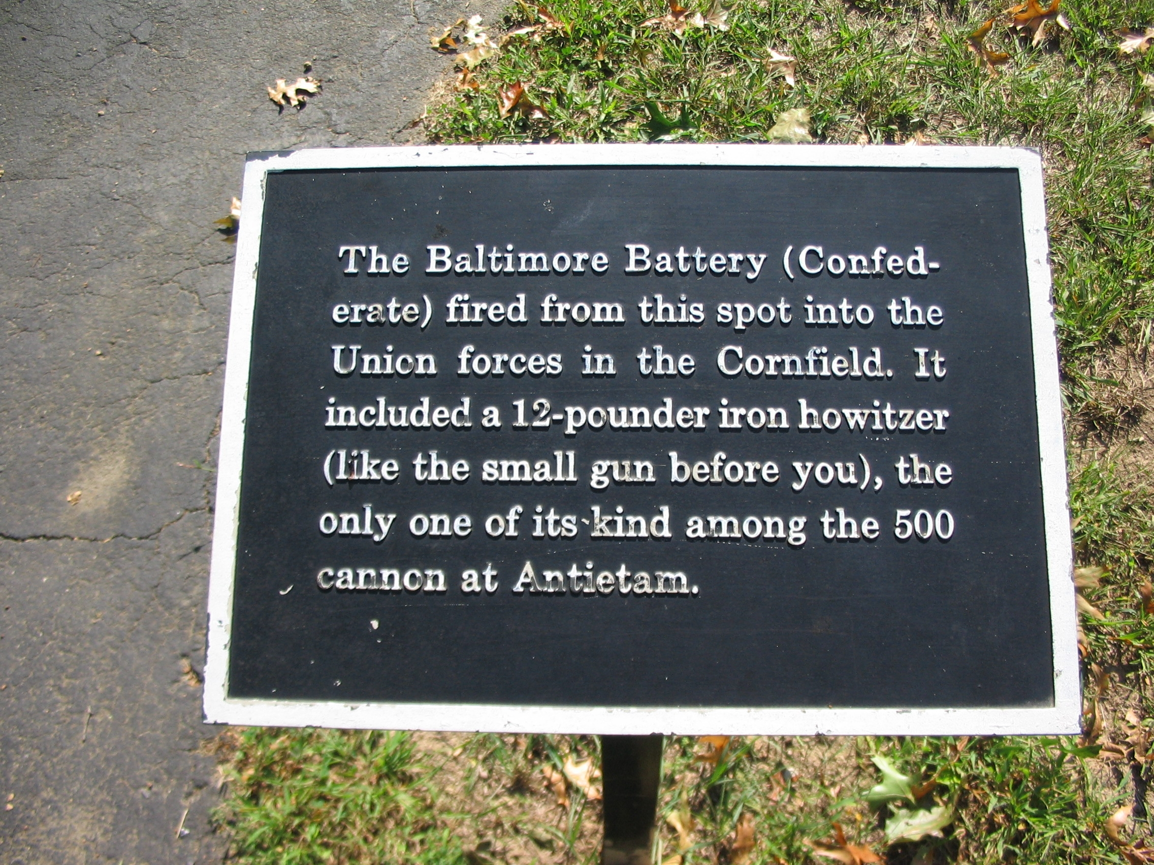 The Baltimore Battery Marker