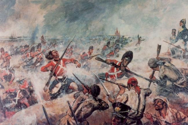 The 93rd Highlanders assault the American Rampart image. Click for full size.