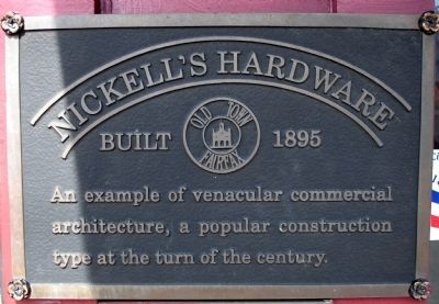 Nickell's Hardware Marker image. Click for full size.