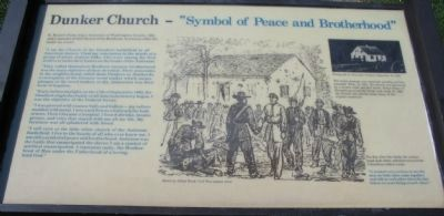 "Dunker Church - ""Symbol of Peace and Brotherhood"" Marker image. Click for full size."