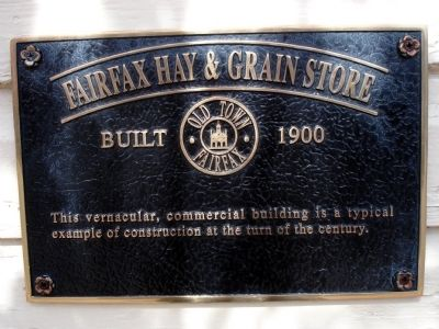 Fairfax Hay & Grain Store Marker image. Click for full size.