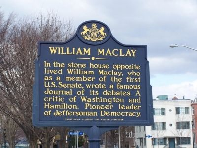 William Maclay Marker image. Click for full size.