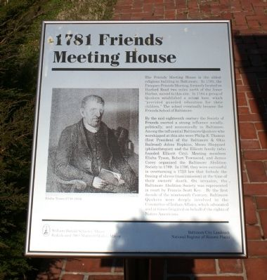 1781 Friends Meeting House Marker image. Click for full size.