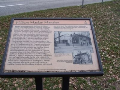 William Maclay Mansion Marker image. Click for full size.