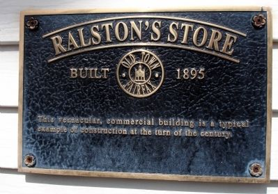 Ralston's Store Marker image. Click for full size.