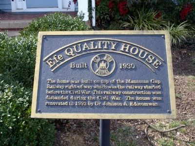 Efe Quality House Marker image. Click for full size.