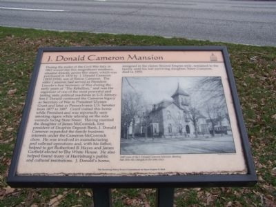 J. Donald Cameron Mansion Marker image. Click for full size.