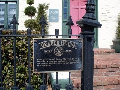 Draper House Marker image. Click for full size.