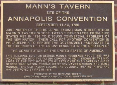 Mann's Tavern Marker image. Click for full size.