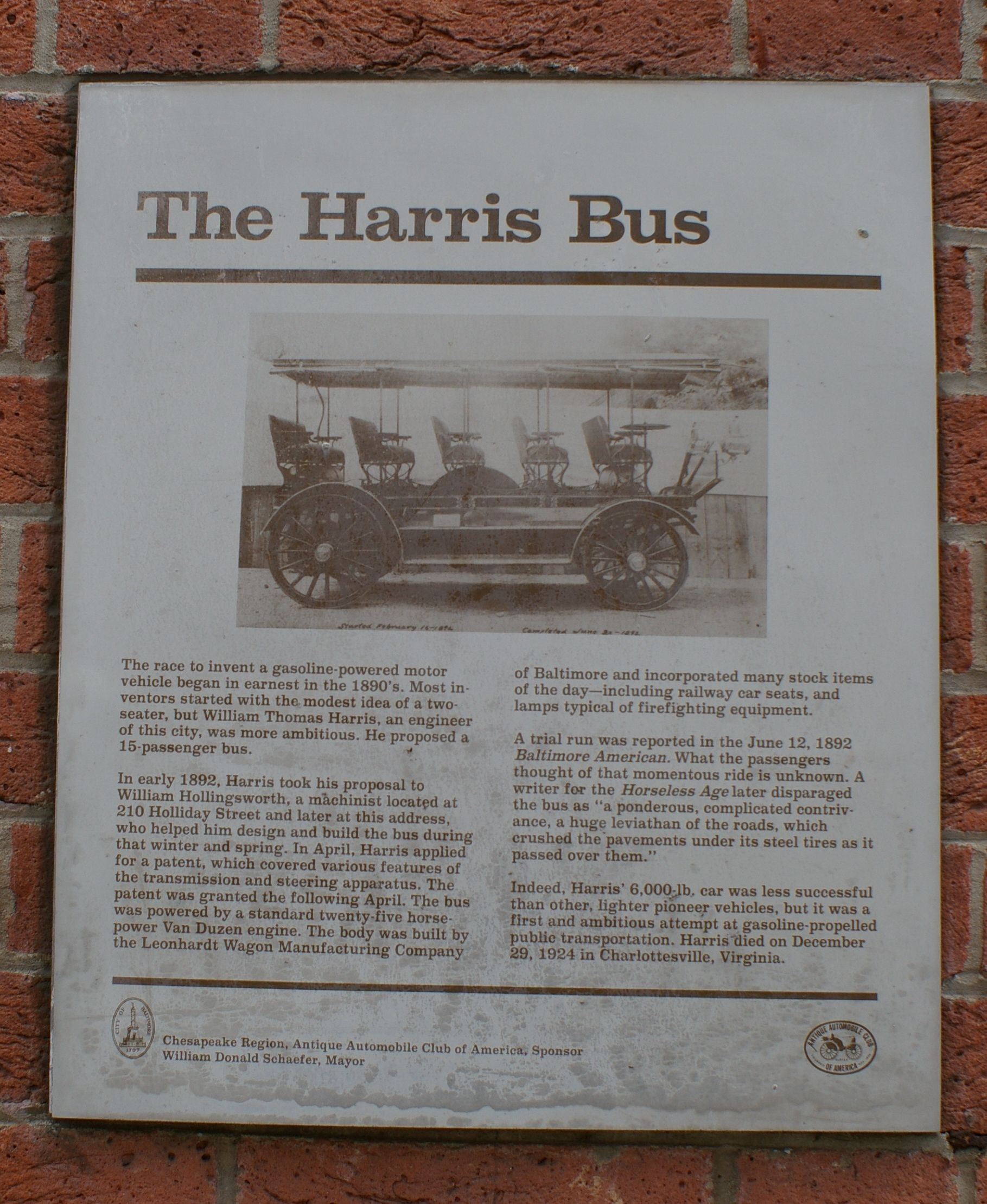 The Harris Bus Marker