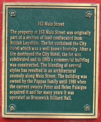 163 Main Street Marker image. Click for full size.