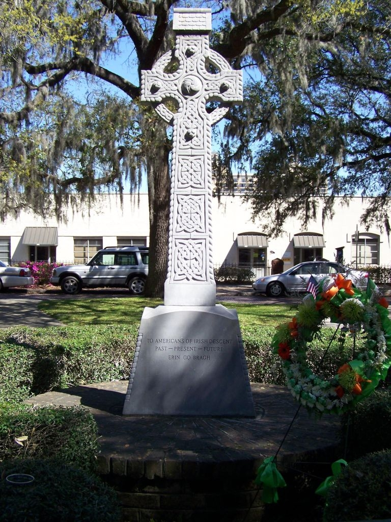 Celtic Cross with wreath