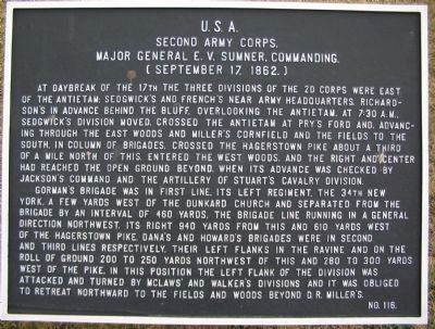 II Army Corps Tablet - Main Tablet image. Click for full size.