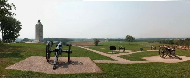 Confederate Battery on Oak Hill image. Click for full size.